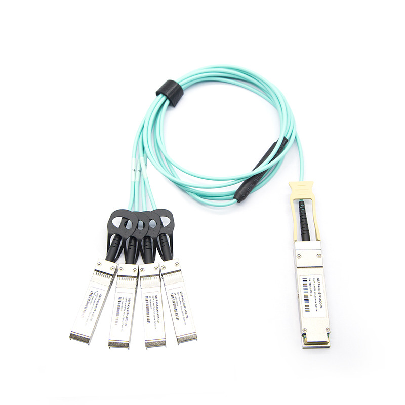 QSFP 40G to 4xSFP+10G Breakout Active Optical Cables-1m