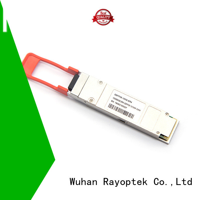 Rayoptek quality qsfp28 wholesale for mall